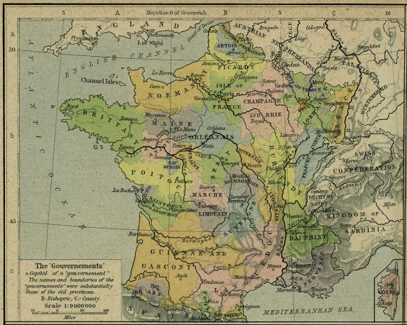 Map of france during french revolution dickinson college wiki france gouvernements 1789 1g gumiabroncs Gallery
